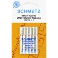 130/705H Иглы Schmetz вышивальные №75-90 по 5шт.