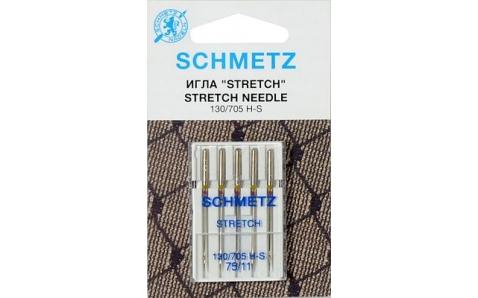 130/705H Иглы Schmetz стрейч №75 по 5шт.