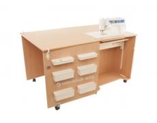 Стол для швейной машины и оверлока Комфорт 1QB+ (К1QBL/К1QBXL)